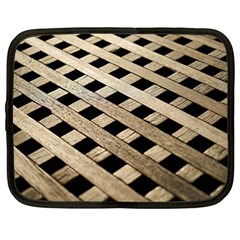 Texture Wood Flooring Brown Macro Netbook Case (large) by Nexatart