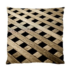 Texture Wood Flooring Brown Macro Standard Cushion Case (two Sides) by Nexatart