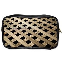 Texture Wood Flooring Brown Macro Toiletries Bags