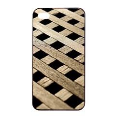 Texture Wood Flooring Brown Macro Apple Iphone 4/4s Seamless Case (black)