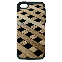Texture Wood Flooring Brown Macro Apple Iphone 5 Hardshell Case (pc+silicone)