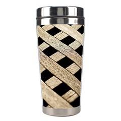 Texture Wood Flooring Brown Macro Stainless Steel Travel Tumblers by Nexatart