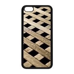 Texture Wood Flooring Brown Macro Apple Iphone 5c Seamless Case (black)