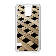 Texture Wood Flooring Brown Macro Samsung Galaxy S5 Case (white)