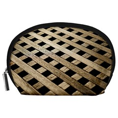 Texture Wood Flooring Brown Macro Accessory Pouches (large)