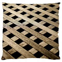 Texture Wood Flooring Brown Macro Large Flano Cushion Case (two Sides) by Nexatart