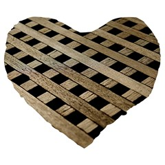 Texture Wood Flooring Brown Macro Large 19  Premium Flano Heart Shape Cushions by Nexatart