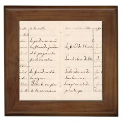 German French Lecture Writing Framed Tiles by Nexatart