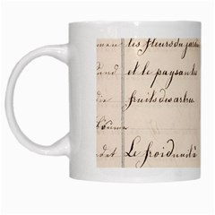 German French Lecture Writing White Mugs