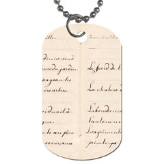 German French Lecture Writing Dog Tag (two Sides)