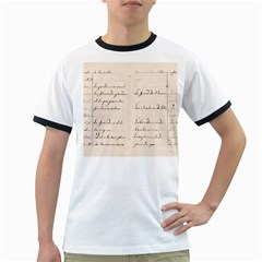 German French Lecture Writing Ringer T Shirts