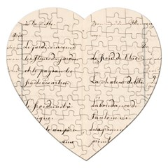 German French Lecture Writing Jigsaw Puzzle (heart) by Nexatart