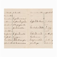 German French Lecture Writing Small Glasses Cloth