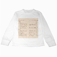 German French Lecture Writing Kids Long Sleeve T Shirts