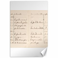 German French Lecture Writing Canvas 24  X 36  by Nexatart