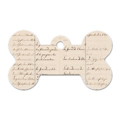 German French Lecture Writing Dog Tag Bone (one Side)