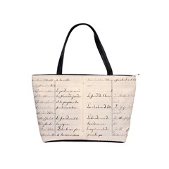 German French Lecture Writing Shoulder Handbags