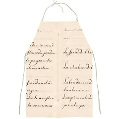 German French Lecture Writing Full Print Aprons by Nexatart