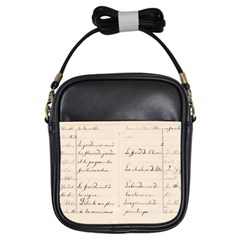 German French Lecture Writing Girls Sling Bags by Nexatart