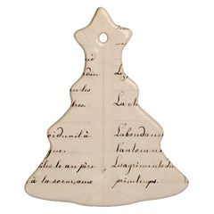 German French Lecture Writing Christmas Tree Ornament (two Sides)