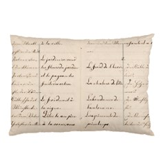 German French Lecture Writing Pillow Case (two Sides) by Nexatart