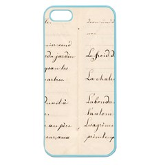 German French Lecture Writing Apple Seamless Iphone 5 Case (color)