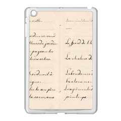 German French Lecture Writing Apple Ipad Mini Case (white) by Nexatart