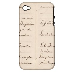 German French Lecture Writing Apple Iphone 4/4s Hardshell Case (pc+silicone) by Nexatart