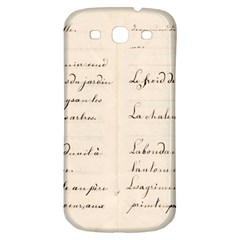 German French Lecture Writing Samsung Galaxy S3 S Iii Classic Hardshell Back Case by Nexatart
