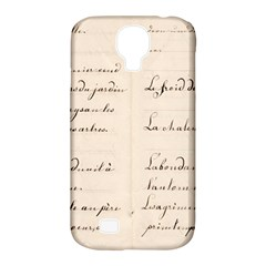 German French Lecture Writing Samsung Galaxy S4 Classic Hardshell Case (pc+silicone)
