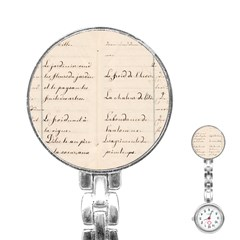 German French Lecture Writing Stainless Steel Nurses Watch by Nexatart