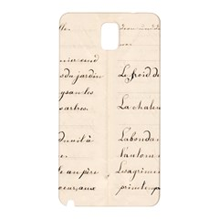 German French Lecture Writing Samsung Galaxy Note 3 N9005 Hardshell Back Case