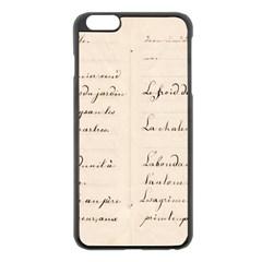 German French Lecture Writing Apple Iphone 6 Plus/6s Plus Black Enamel Case by Nexatart