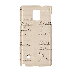 German French Lecture Writing Samsung Galaxy Note 4 Hardshell Case by Nexatart