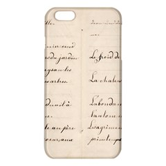 German French Lecture Writing Iphone 6 Plus/6s Plus Tpu Case by Nexatart