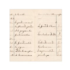 German French Lecture Writing Small Satin Scarf (square)