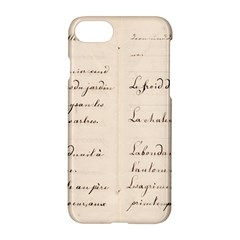 German French Lecture Writing Apple Iphone 7 Hardshell Case by Nexatart