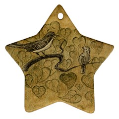 Birds Figure Old Brown Star Ornament (two Sides)
