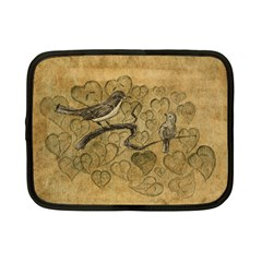 Birds Figure Old Brown Netbook Case (small)