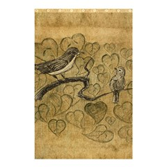 Birds Figure Old Brown Shower Curtain 48  X 72  (small)