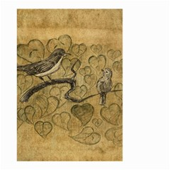 Birds Figure Old Brown Small Garden Flag (two Sides) by Nexatart