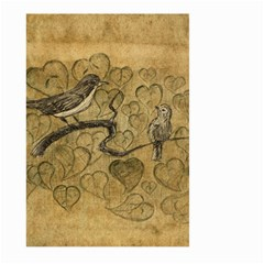 Birds Figure Old Brown Large Garden Flag (two Sides) by Nexatart