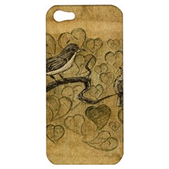 Birds Figure Old Brown Apple Iphone 5 Hardshell Case
