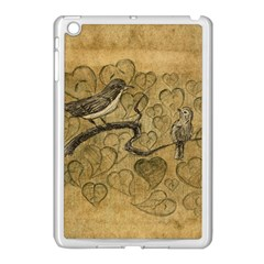 Birds Figure Old Brown Apple Ipad Mini Case (white) by Nexatart