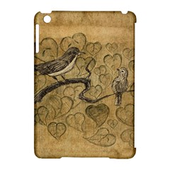 Birds Figure Old Brown Apple Ipad Mini Hardshell Case (compatible With Smart Cover) by Nexatart