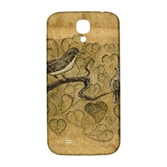 Birds Figure Old Brown Samsung Galaxy S4 I9500/i9505  Hardshell Back Case
