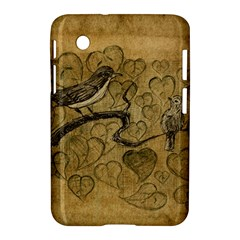 Birds Figure Old Brown Samsung Galaxy Tab 2 (7 ) P3100 Hardshell Case