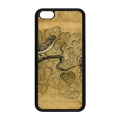 Birds Figure Old Brown Apple Iphone 5c Seamless Case (black) by Nexatart
