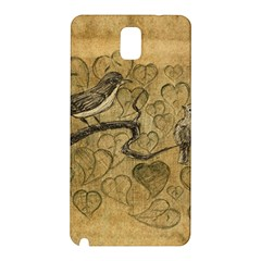 Birds Figure Old Brown Samsung Galaxy Note 3 N9005 Hardshell Back Case by Nexatart