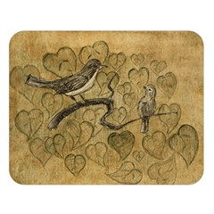 Birds Figure Old Brown Double Sided Flano Blanket (large)  by Nexatart